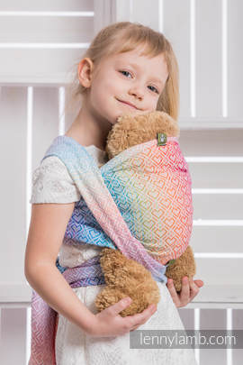 Doll Sling, Jacquard Weave, 100% cotton - BIG LOVE - RAINBOW