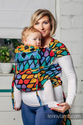 WRAP-TAI carrier Mini with hood/ jacquard twill / 100% cotton / JOYFUL TIME