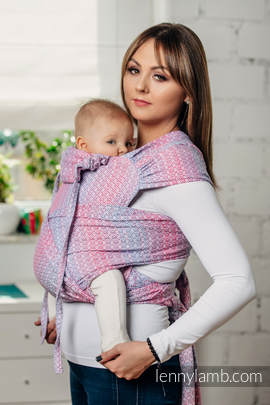 WRAP-TAI carrier Toddler with hood/ jacquard twill / 100% cotton / LITTLE LOVE - HAZE