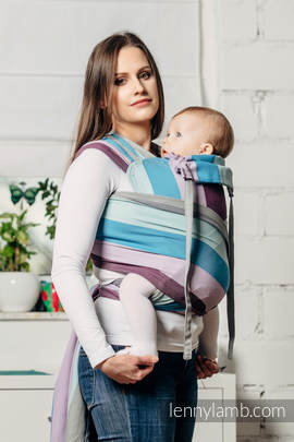 WRAP-TAI carrier Toddler, diamond weave - 100% cotton - with hood, ICELANDIC DIAMOND