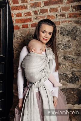 Baby Wrap, Jacquard Weave (60% cotton 28% linen 12% tussah silk) - CRYSTAL LACE - size XL