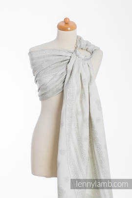 Ringsling, Jacquard Weave (60% cotton 28% linen 12% tussah silk) - CRYSTAL LACE