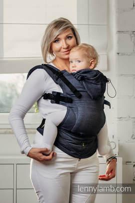 Meine Erste Ergonomische Tragehilfe - JEANS, Gr. Baby, Satinwebung, 100% Baumwolle - zweite Generation
