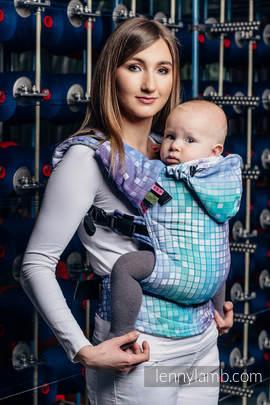Nosidełko Ergonomiczne z tkaniny żakardowej 100% bawełna , Toddler Size, MOZAIKA - AURORA - Druga Generacja