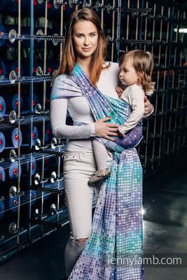Baby Wrap, Jacquard Weave (100% cotton) - MOSAIC - AURORA - size XL (grade B)
