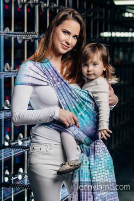 Baby Wrap, Jacquard Weave (100% cotton) - MOSAIC - AURORA - size XS