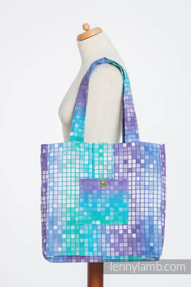 Shoulder bag made of wrap fabric (100% cotton) - MOSAIC - AURORA - standard size 37cmx37cm