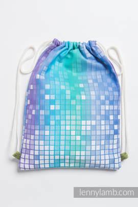 Sackpack made of wrap fabric (100% cotton) - MOSAIC - AURORA - standard size 32cmx43cm