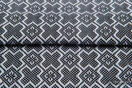 CARRE FELICIA, ćwiartka tkaniny, splot żakardowy, rozmiar 50cm x 70cm