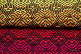 CARRE MARGO RAINBOW DARK, fabric quarters, jacquard, size 50cm x 70cm