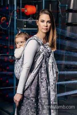 Baby Wrap, Jacquard Weave (100% cotton) - MOSAIC - MONOCHROME - size XL