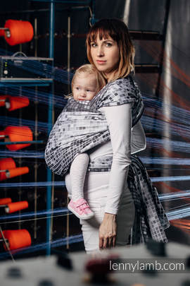 Baby Wrap, Jacquard Weave (100% cotton) - MOSAIC - MONOCHROME - size L