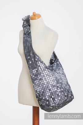Hobo Tasche, hergestellt vom gewebten Stoff (100% Baumwolle) - MOSAIC - MONOCHROM