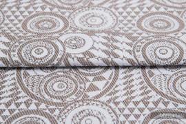 PLAYGROUND CAFFE LATTE, ćwiartka tkaniny, splot żakardowy, rozmiar 50cm x 70cm
