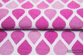 KROPLE RUBINOWY, ćwiartka tkaniny, splot żakardowy, rozmiar 50cm x 70cm