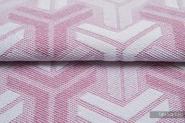 TRINITY PUDROWY RÓŻ, ćwiartka tkaniny, splot żakardowy, rozmiar 50cm x 70cm