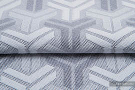 TRINITY SREBRNY, ćwiartka tkaniny, splot żakardowy, rozmiar 50cm x 70cm