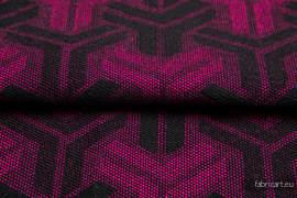 TRINITY MAGENTA Z CZARNYM, ćwiartka tkaniny, splot żakardowy, rozmiar 50cm x 70cm
