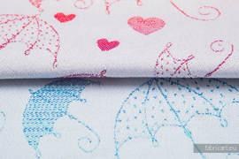 UMBRELLAS RAINBOW LIGHT, fabric quarters, jacquard, size 50cm x 70cm