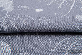 PARASOLKI SREBRNE, ćwiartka tkaniny, splot żakardowy, rozmiar 50cm x 70cm