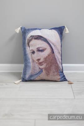 Poduszka żakardowa, (100% bawełna) - MATKA BOŻA TIHALJINA - uniwersalny rozmiar 31cmx43cm