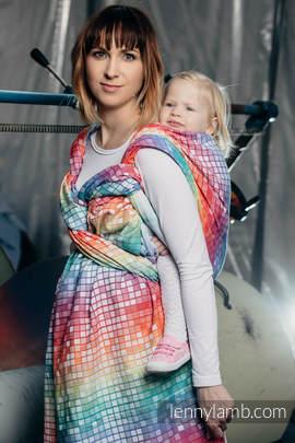Baby Wrap, Jacquard Weave (100% cotton) - MOSAIC - RAINBOW - size M (grade B)