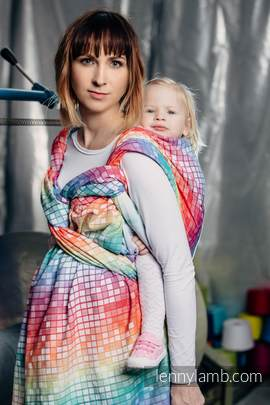 Baby Wrap, Jacquard Weave (100% cotton) - MOSAIC - RAINBOW - size XL