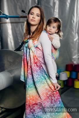 Baby Wrap, Jacquard Weave (100% cotton) - MOSAIC - RAINBOW - size L (grade B)