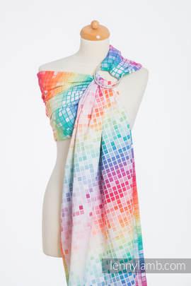 Ringsling, Jacquard Weave (100% cotton) - MOSAIC - RAINBOW (grade B)