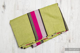 LIME & KHAKI, fabric scrap, broken twill weave, size 130cm x 140cm