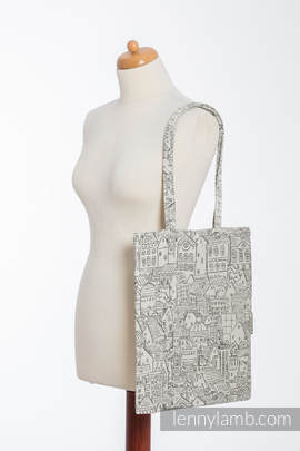 Shopping bag made of wrap fabric (100% cotton) - PANORAMA