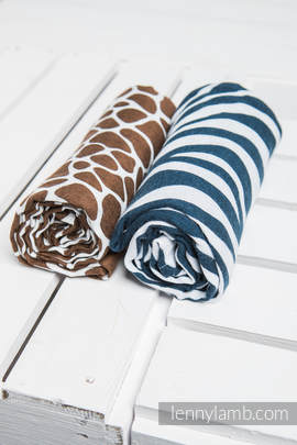 Swaddle Wrap Set - ZEBRA NAVY BLUE & WHITE, GIRAFFE BROWN & CREAM