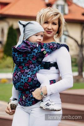 Nosidełko Ergonomiczne z tkaniny żakardowej 100% bawełna , Toddler Size, SKRZYDŁA MOTYLA NOCĄ - Druga Generacja