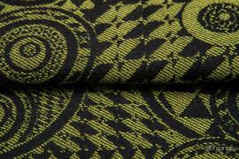 PLAYGROUND KIWI Z CZARNYM, ćwiartka tkaniny, splot żakardowy, rozmiar 50cm x 70cm