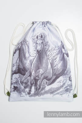 Sackpack made of wrap fabric (100% cotton) - GALLOP - standard size 32cmx43cm