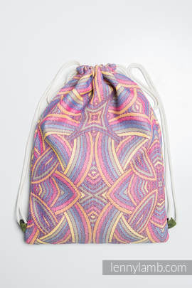 Sackpack made of wrap fabric (100% cotton) - ILLUMINATION LIGHT - standard size 32cmx43cm