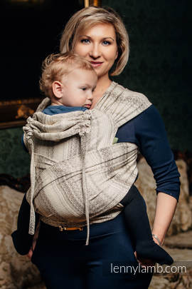 WRAP-TAI carrier Toddler with hood/ jacquard twill / 100% cotton / LITTLE LOVE - TIRAMISU