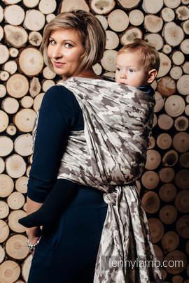 Baby Wrap, Jacquard Weave (100% cotton) - BEIGE CAMO - size XS