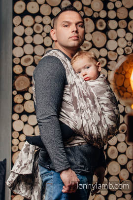 Baby Wrap, Jacquard Weave (100% cotton) - BEIGE CAMO - size L (grade B)