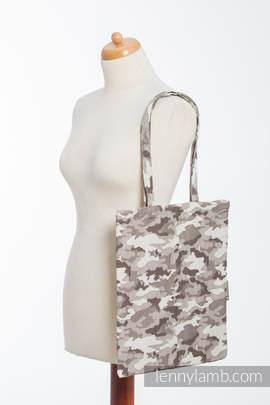 Shopping bag made of wrap fabric (100% cotton) - BEIGE CAMO