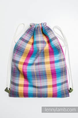 Sackpack made of wrap fabric (100% cotton) - LITTLE HERRINGBONE CITYLIGHTS - standard size 32cmx43cm