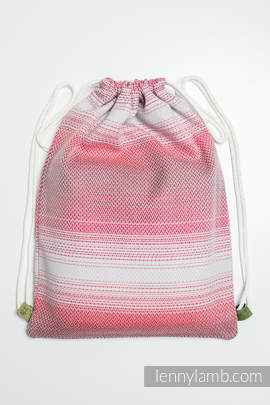 Sackpack made of wrap fabric (100% cotton) - LITTLE HERRINGBONE ELEGANCE - standard size 32cmx43cm