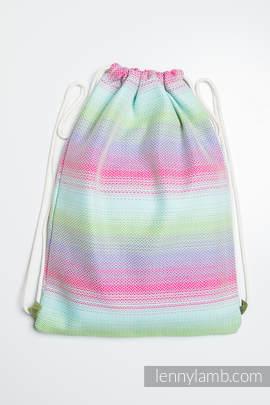 Sackpack made of wrap fabric (100% cotton) - LITTLE HERRINGBONE IMPRESSION - standard size 32cmx43cm
