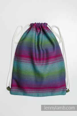 Sackpack made of wrap fabric (100% cotton) - LITTLE HERRINGBONE IMPRESSION DARK - standard size 32cmx43cm