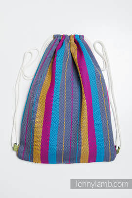 Sackpack made of wrap fabric (100% cotton) - LITTLE HERRINGBONE NIGHTLIGHTS - standard size 32cmx43cm