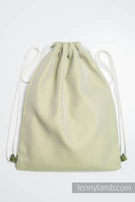 Sackpack made of wrap fabric (100% cotton) - LITTLE HERRINGBONE OLIVE GREEN - standard size 32cmx43cm
