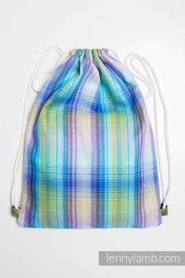 Sackpack made of wrap fabric (100% cotton) - LITTLE HERRINGBONE PETREA - standard size 32cmx43cm