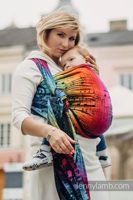 Baby Wrap, Jacquard Weave (100% cotton) - SYMPHONY RAINBOW DARK - size S