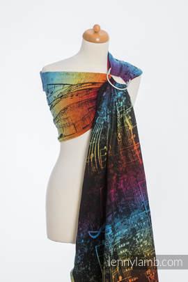 Ringsling, Jacquard Weave (100% cotton) - SYMPHONY RAINBOW DARK