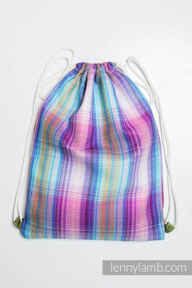 Sackpack made of wrap fabric (100% cotton) - LITTLE HERRINGBONE TAMONEA - standard size 32cmx43cm